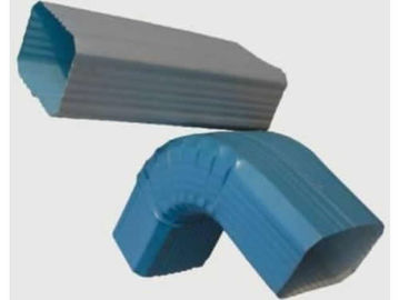 China CE Certification Downpipe Roll Forming Machine , Precise Gutter Making Machine supplier