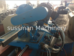 China Single Chain Drive Downspout Tube Roll Forming Machine With 45# Steel Roller supplier