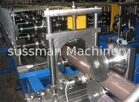 China Galvanized Cold Steel Sheet Rain Downspout Pipe Roll Forming Machine High Speed supplier