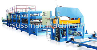 China Color Steel Sheet 0.4 - 0.8mm PU Sandwich Panel Making Machine Production Line supplier