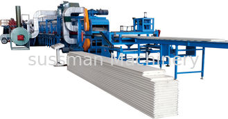 China PLC Control PU Sandwich Panel Production Line 40 - 42 Kg / m2 Core Density supplier