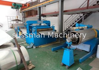 China PLC Touch Screen Control Metal Slitting Machine Hydraulic Cutting Power 4KW supplier