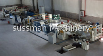 China Galvanized Steel Slitting Lines Cold Metal Cutting To Length Line Machine PLC Control supplier