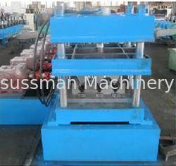 China High Speed Galvanized Steel Guardrail Roll Forming Machine 380V 7.5Kw Hydraulic Color Customized supplier