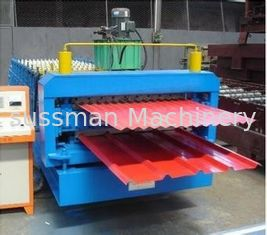 380V 3PHASE Double Layer Roll Forming Machine 45# steel Roller material CE Certification