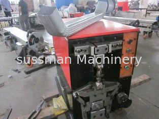 China 5.5KW Carbon Steel Downspout Roll Forming Machine High Speed 8 - 10 m / min supplier
