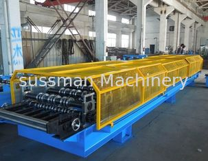 China Automatic Trapezoidal Decking Roof Panel Roll Forming Machine Thickness 0.6 - 0.8mm supplier
