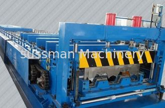 China Material Thickness 0.5--3mm Deck Floor Roll Forming Machine 8 Tons 28 Stations supplier