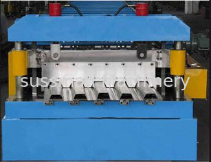 China PLC Touch Screen Control Deck Floor Panel Roller Making Machine 28 Forming Stations supplier
