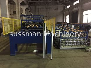 China Color Coating Coil Material PU Sandwich Panel Production Line Driven Power 7.5 KW supplier