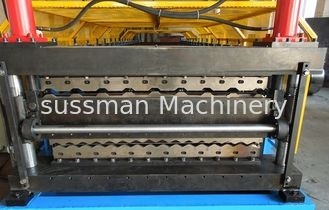 China Fully Electric Double Layer Automatic Roll Forming Equipment Chain Drive High Speed supplier