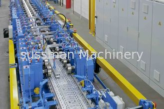 China GCr15 Quench Treatment Cable Tray Roll Forming Machine 380V 50Hz 3 Phase supplier