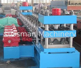 China Galvanized Steel Three Waves Motorway Guard Rail Roll Forming Equipment with Gearbox Driving supplier