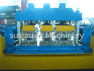 China Gear Box Driving Mental Door Frame Roll Forming Machine 20 Roll Forming Stations supplier