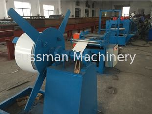 China 8000mm X 800mm X 800mm Door Frame Roll Forming Machine 5 Tons 4Kw Hydraulic Cutting supplier