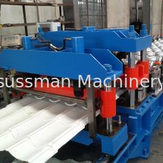 China 1.2 Inch Single Chain Drive Roofing Sheet Roll Forming Machine 16 Stations supplier