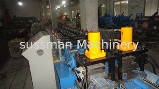 China PLC Control System Metal Shutter Door Forming Machine With Hydraulic Cutting supplier
