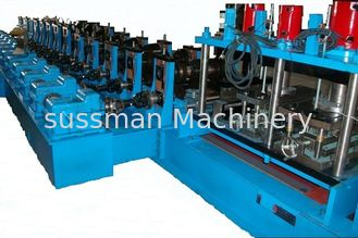 China Colored Glaze Steel Guardrail Roll Forming Machine 1.5mm - 3.0mm Thickness supplier