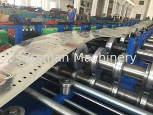 China Automatic Adjustable Size Cable Tray Roll Forming Machine With Hydraulic Punching supplier