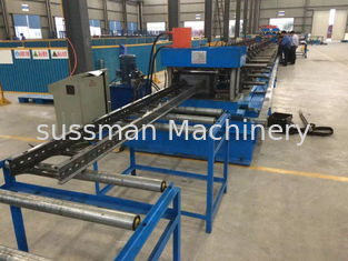 China Steel Channel Ladder Cable Tray Making Cold Roll Forming Machine 10 - 12 m / min supplier