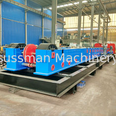 China Customize Metal Cable Support System / Solid Cable Tray Making Machine 20 Stations supplier