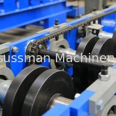 China Hydraulic Cutting 5.5KW C Purlin Cold Roll Forming Machine 10 - 12M / min Speed supplier