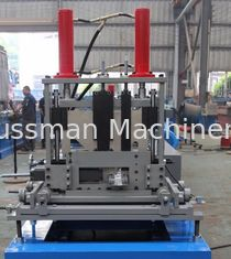 China 1.5mm-3mm Q195-235 Blue C Z Purlin Roll Forming Machine With 18 Forming Roller supplier