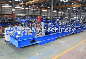 China 1.5mm - 3.0mm Galvanized Steel C Purlin Forming Machine With Chain Drive supplier