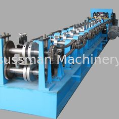 Cold Steel Strip Profile CZ Purlin Roll Forming Machinery With Hydraulic Cutting