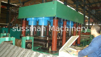 China PLC Touch Screen Control Steel Silo Roll Forming Machines Gcr15 Steel Rollers supplier