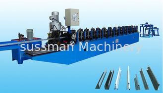 China Aluminum Ceiling Tee Bar Roll Forming Equipment For Steel Ceiling T Grid Carrier supplier