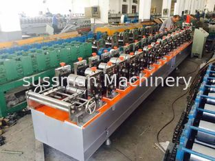 China 45# Steel Stud And Track Roll Forming Machine Colored Steel With PLC Control System supplier