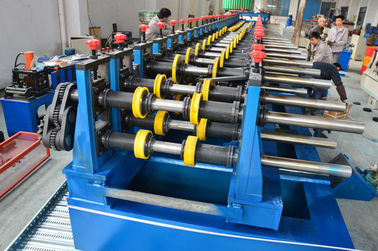 China Automatic 22KW Light Duty Cable Tray Making Machine 5 Tons Hydraulic Decoiler supplier