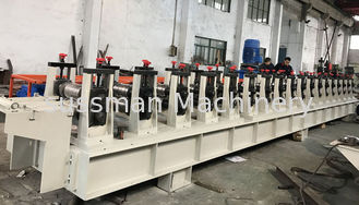 China 11KW 0.8-1.5mm Galvanized Steel Guide Rail Roll Forming Machine 22 Stations supplier