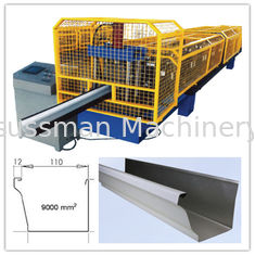 China 0.5-0.6mm Steel Roll Forming Machine Square Gutter Making Machine 12-15m/min supplier