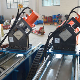 Steel Guide Rail Roll Forming Equipment Chain Drive Cassette Type CE Approved