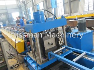 China 16-18 Stations CZ Purlin Roll Forming Machine with Hydraulic Cutting and Punching supplier