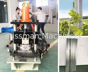 China Siemens Motor Hot Selling Vineyard Post Roll Forming Machine 200mm Feeding Width supplier