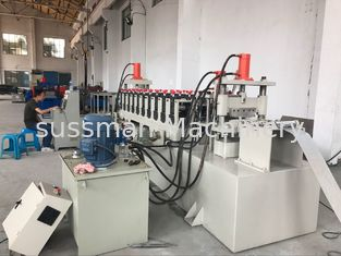 China 12 Stations PLC Control Cable Tray Roll Forming Machine 10-15m / Min Speed supplier