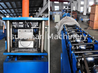 0.4-0.8mm Thickness Half Round Gutter Roll Forming Machine High Speed 10-15m/min