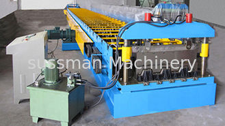 G550 Galvanized Embossment Steel Flooring Deck Plate Roll Forming Machinery 22KW