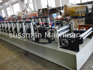China Customized Cold Beam Rack Steel Roll Forming Machine With Fly Saw Cutting supplier