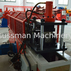 China Omega Profile Stud And Track Roll Forming Machine , Channel Truss Furring Cold Forming Machine supplier