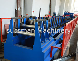 China Automatic Adjustment CZ Purlin Roll Forming Machine With Hole , Chain Drive Pre Cutting supplier