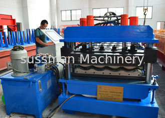 7.5Kw Main motor power Roof Tile Roll Forming Machine with 12-15m/min