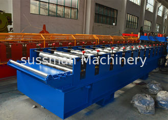 China 7.5Kw Main motor power Roof Tile Roll Forming Machine with 12-15m/min supplier