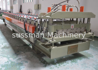 Color Glazed Tile Making Machine , Steel Tile Roll Forming Machine With Press Mould