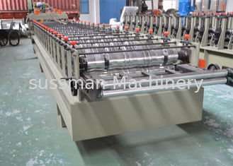 China Color Glazed Tile Making Machine , Steel Tile Roll Forming Machine With Press Mould supplier