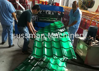 Automatic Glazed Tile Roll Forming Machine , Ceramic Tile Making Machine 380V 50HZ
