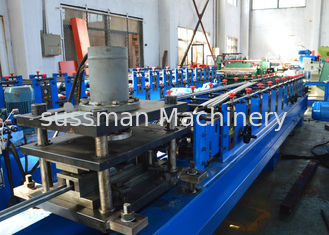 China Gcr15 Steel Solar Strut Channel Roll Forming Equipment With Hydraulic Cutting supplier